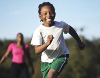 photo of child exercising to show example of physical activity